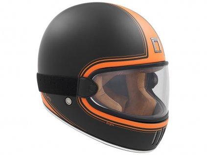 přilba RAGE SPITFIRE, NOX PREMIUM (černá matná/oranžová)