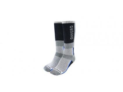 ponožky Thermal, OXFORD (šedé/černé/modré)