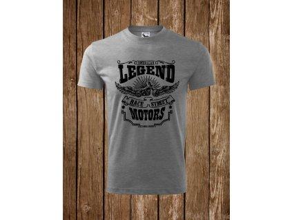 Pánské triko s potiskem American legends, šedé