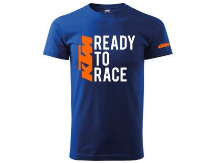 Pánské triko s motivem KTM - Ready to race 2, modré
