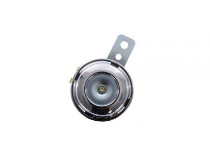 klakson 12V, 100dB, průměr 70 mm, OXFORD (chrom)