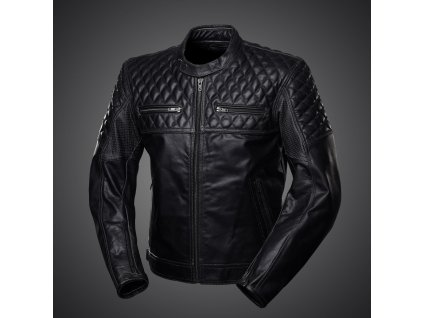 4SR SCRAMBLER PETROLEUM - pánská kožená bunda černá