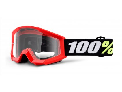 brýle Strata Mini Gron Red, 100% dětské (čiré plexi)