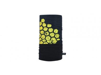 nákrčník Snug Hex, OXFORD (černý/žlutý)