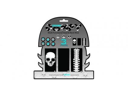 nákrčníky Comfy Skeleton, OXFORD (sada 3 ks)