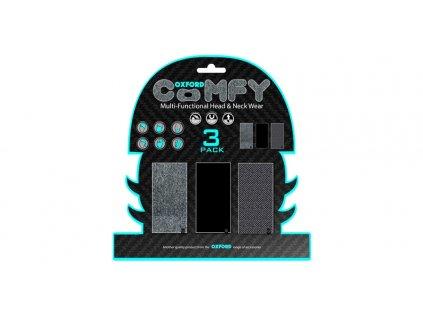 nákrčníky Comfy Herringbone, OXFORD (sada 3 ks)