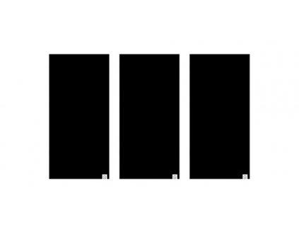 nákrčníky Comfy All Black, OXFORD (sada 3 ks, černé)
