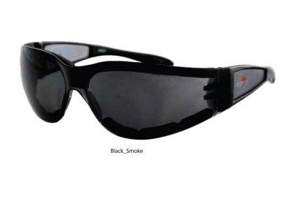 BOBSTER SHIELD II motocyklové brýle - kouřové sklo