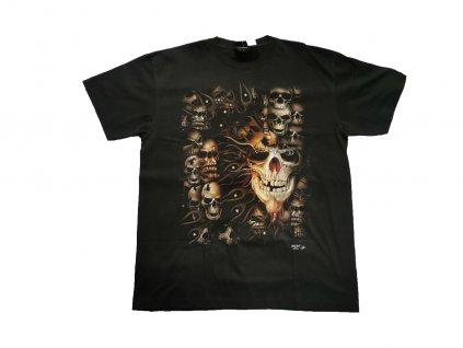 """Tričko svítící ve tmě """"Skull"""", vel. XL"""