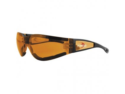 BOBSTER SHIELD II motocyklové brýle - amber sklo