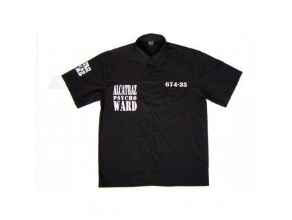 MH Vězeňská košile Alcatraz černá