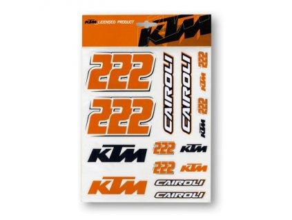 Tony Cairoli 222 - KTM samolepky velké