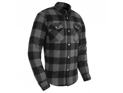 košile KICKBACK 2.0, OXFORD (šedá/černá)