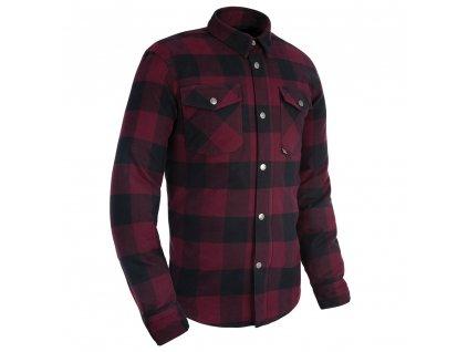 košile KICKBACK 2.0, OXFORD (červená/černá)
