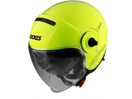 AXXIS RAVEN SV ABS solid žlutá fluor lesklá otevřená přilba