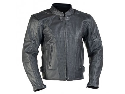 MBW LARROS PERFOROVACE kožená pánská bunda černá