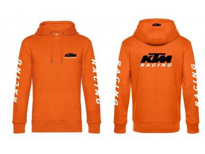 MIKINA oranžová KTM s kapuci RACING eshop I