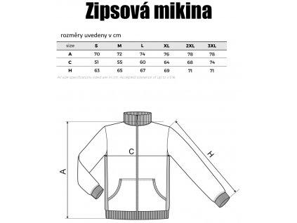 Pánská mikina na zip TRIUMPH, šedá