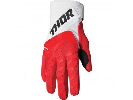 THOR SPECTRUM RED/WHITE 2022 motokrosové rukavice