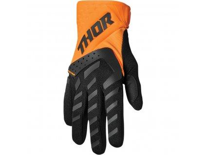 THOR SPECTRUM ORANGE/BLACK 2022 motokrosové rukavice