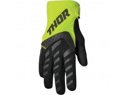 THOR SPECTRUM BLACK/ACID 2022 motokrosové rukavice