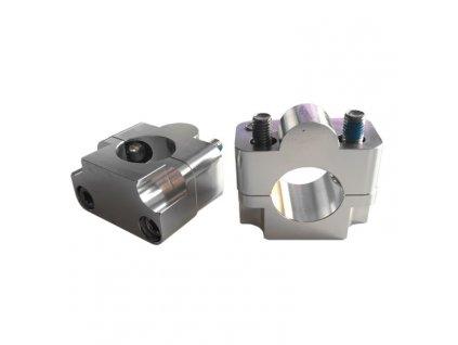 Představce na řídítka, rozšíření z průměru 22mm na průměr 28,6mm, hliník