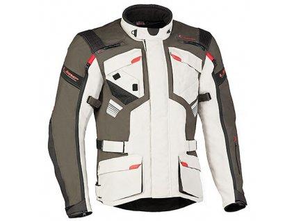MBW GT ADVENTURE JACKET pánská textilní bunda na motorku sv. tm. šedá