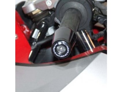 Závaží RG Racing do řidítek pro motocykly BMW F800S / F800ST / R1200S, černá (pár)