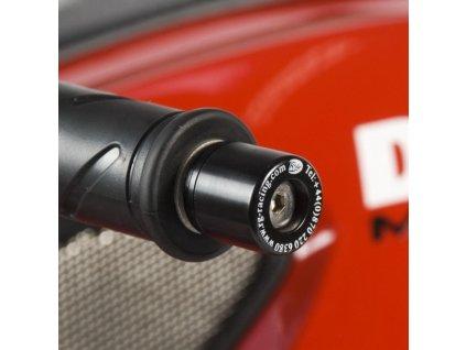 Závaží RG Racing do řidítek pro motocykly DUCATI Monster 1100 ('09)  Streetfighter, černá (pár)