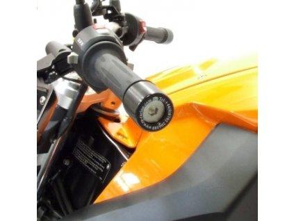 Závaží RG Racing do řidítek pro motocykly BMW F800R ('09-), černá (pár)