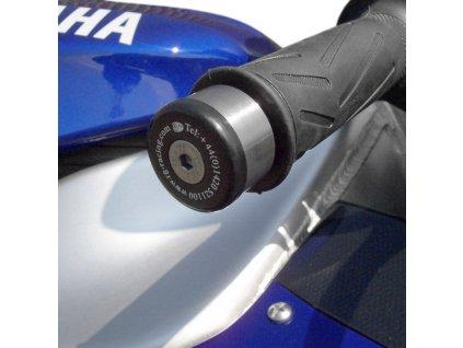 Závaží RG Racing do řidítek pro motocykly YAMAHA YZF-R1/FJR1300/YZF-R6 '06-/FZ-1 '06/Fazer 600 -'03, TRIUMPH Tiger '07-, černá
