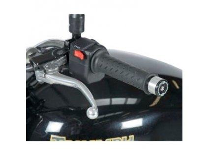 Závaží RG Racing do řidítek pro motocykly TRIUMPH Bonneville ('08-), černé (pár)