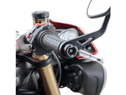 Závaží RG Racing do řidítek Triumph Speed Triple S/R, Thruxton 1200R, černá