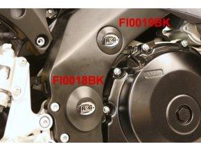 Zátka do rámu, horní, levá nebo pravá, Suzuki GSX-R1000 '07-, černá