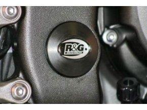 Zátka do rámu, dolní, pravá - Yamaha YZF-R6 '06-'08, černá