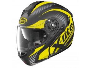 Moto helma X-Lite X-1004 Nordhelle N-Com Flat Black-Yellow