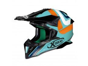 Motokrosová přilba X-Lite X-502 Best Trick Aquamarine
