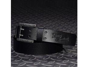 4SR DOUBLE BLACK kožený opasek