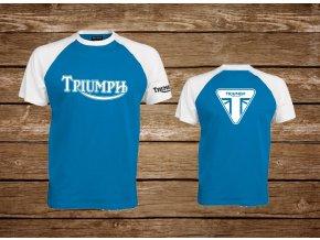 triko triumph modro bílá