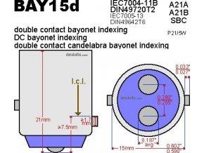 Žárovka Dual Wire 12V 23/8W (BAY15d) Highway Hawk pro motocyklová světla