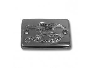Highway Hawk Víčko nádobky brzdy LIVE TO RIDE pro motocykly SUZUKI a KAWASAKI