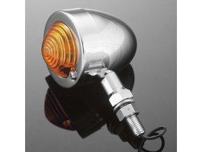 Světlo na motorku Highway Hawk BULLET s dlouhou nožičkou, chrom (1ks)