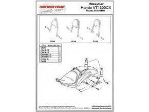 Montážní sada Highway Hawk ARCH, FLAT, WIDE pro motocykly HONDA VT 1300CX, černá