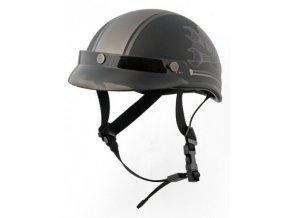 BRAINCAP RUSTY PISTONS RPHE03 F03 Skull moto přilba matná černá