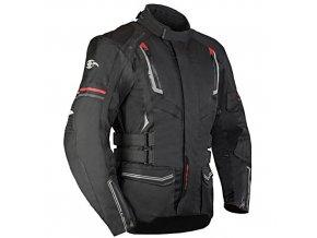 MBW STANLEY pánská textilní moto bunda černá