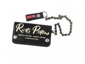RUSTY pistons RPWL02 SA03-A BOSS kožená peněženka s řetězem