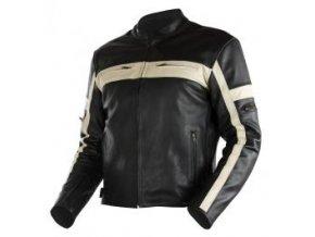 NAZRAN CRUISER - pánská kožená moto bunda, black/beige