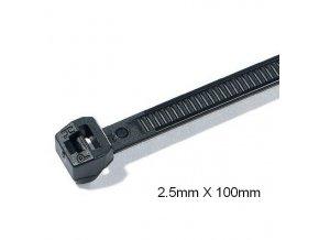 Stahovací páska 2,5x100mm, 100ks