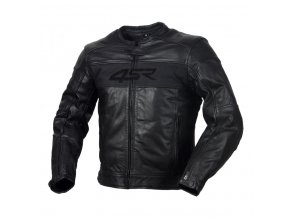 4SR HOOLIGAN BLACK VELVET pánská kožená moto bunda