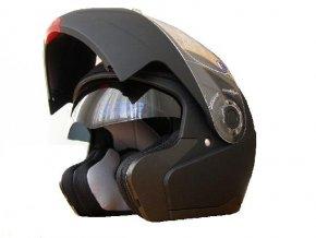 MAXX H 910 výklopná helma černá lesklá